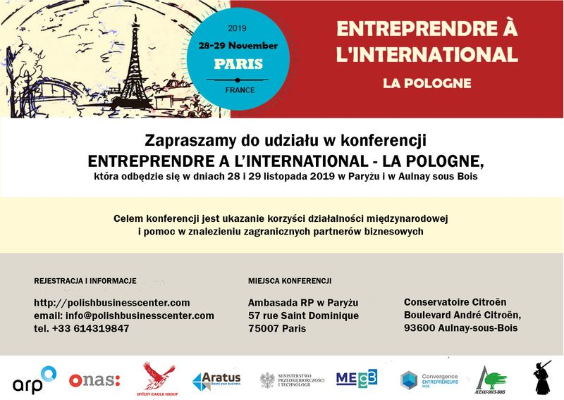 Konferencja ENTREPRENDRE À L'INTERNATIONAL ‐ LA POLOGNE