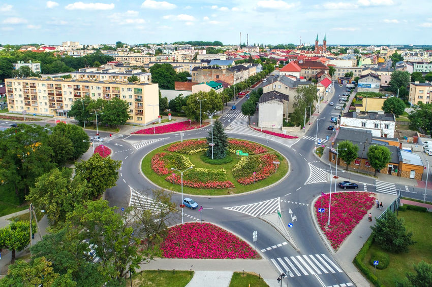 Aerial view of the Solidarność roundabout (photo: Kutno City Hall)